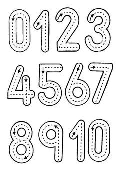 Figura vocales - Imagui Learning Numbers for Toddlers Printable Preschool Worksheets, Kindergarten Math Worksheets, Alphabet Worksheets, Numbers Kindergarten, Free Printable, Maths, Printable Alphabet Letters, Alphabet Charts, Math Literacy