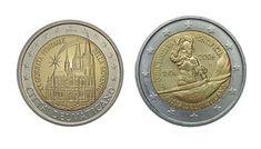Monete rare: i 2 euro di Città delVaticano Gold Bullion Bars, Canadian Coins, Euro Coins, Commemorative Coins, Coin Collecting, Personalized Items, Luigi, Native American, Buffet