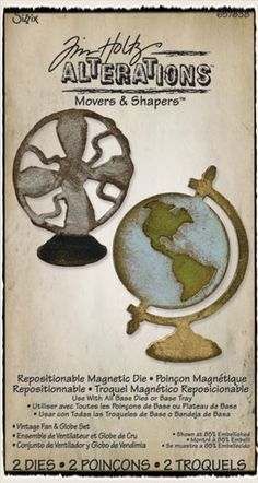 Winter CHA Tim Holtz Sizzix die - mini vintage globe and fan (movers & shapers)