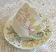 Shelley Tea Cup and Saucer Vintage Bone China Dainty by TheAcreage