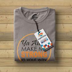 @zephighoz #AllahWay #KaosDakwah #KaosMuslim #KaosIslam #KaosKeren #AbuAbu #KaosAbuAbu #grey #greytshirt #KaosKreatif http://zephighoz.clothing Call/SMS/WA : 081-333-88-777-9 Grey Thursday!!! Ya Allah Make Me Strong In Your Way Kaos Dakwah, Kaos Muslim, Kaos Islam, Kaos Keren, Kaos Kreatif dibuat dengan bahan berkualitas terbaik dari Cotton Combed, sablon rubber bekualitas. Mempunyai karakteristik lembut, nyaman, adem dan menyerap keringat, Tersedia Warna : Putih, Abu-abu Mud