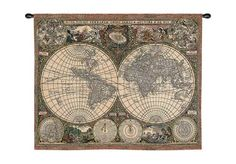 World map tapestry $160