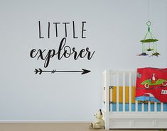 Little Explorer and Arrow vinyl Wall decal perfect for a new nursery or kids room. Travel theme decals like this Little Explorer wall quote will complete that adventure themed room you've been working on! Childrens Wall Decals, Vinyl Wall Decals, New Adventure Quotes, Travel Wall, Travel Themes, Custom Wall, Room Themes, Wall Quotes, Textured Walls