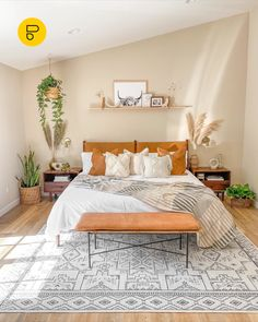 Cozy Bedroom, Home Decor Bedroom, Bedroom Wall, Coziest Bedroom, Yellow Walls Bedroom, Earthy Bedroom, Bedroom Inspo, Bedroom Ideas, Master Bedroom