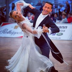 Mirko Gozzoli and Edita Daniute, LTU at the Professional Division European Standard in Leipzig, GER 201?