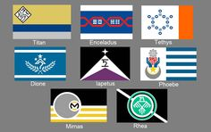 Flags of the Greater Moons of Saturn by NK-Ryzov on DeviantArt
