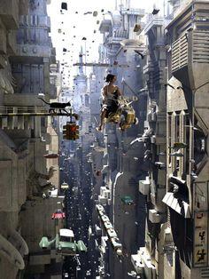 画像 : オススメな幻想都市風景イラストコレクション【未来都市Future City】 - NAVER まとめ