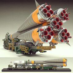 Russian Space Rocket 1/150 diorama. Modeler Swbtwy Masaru #scalemodel #plastimodelismo #plasticmodel #plastimodelo #miniatura #miniature #maqueta #maquette #modelismo #modelism #modelisme #rocket #space #usinadoskits #udk #hoby #diorama #foguete