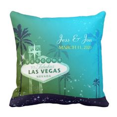 Fabulous Las Vegas Wedding ceremony Couple Souvenir Throw Pillow. >> Discover more at the photo link