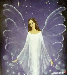 Angel Images, Angel Pictures, Mystical Pictures, Angel Guide, Angel Drawing, Christian Artwork, Work Pictures, I Believe In Angels, Moon Painting