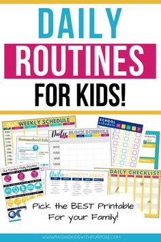 School Schedule Printable, After School Schedule, Working Mom Schedule, Routine Printable, Kids Schedule, Daily Routine Kids, Daily Routine Schedule, Daily Checklist, Kids Checklist