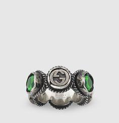 9638e649709aa5 Gucci - Ring with Crystals 410760J3F428137 Modern Luxury, Luxury Fashion,  Gemstone Rings, Ready