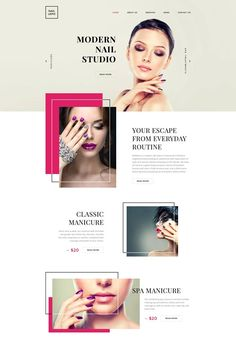 Simple Website Design, Website Layout, Website Design Inspiration, Makeup Artist Website, Spa Website, Nail Salon Design, Cosmetic Design, Hair And Beauty Salon, Site Web
