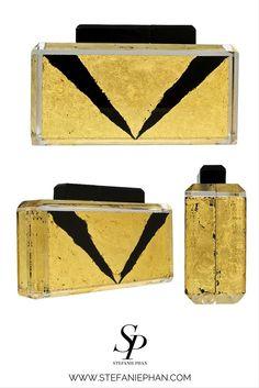 THE CLOSER BLACK AND 24K GOLD CLUTCH | STEFANIE PHAN