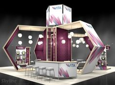 Vita 40×40 Large Island Exhibit | Skyline Exhibit Gallery : Trade Show Exhibit Designs and Ideas!