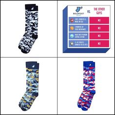 3-Pack Fun Digital Camo Mens Dress Socks Colorful Digicamo Gift Made in America #BoldfootSocks #Dress