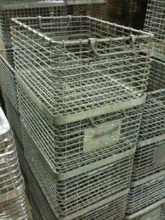 vintage stackable German industrial baskets   # Pinterest++ for iPad #