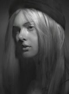 Kai Fine Art is an art website, shows painting and illustration works all over the world. Portrait Sketches, Pencil Portrait, Portrait Art, Charcoal Portraits, Charcoal Art, Realistic Pencil Drawings, Art Drawings, Value Painting, Graphite Art