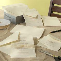 Hartford DIY Wedding Invitation Kit - Set of 50 - Ivory or White #eWeddings