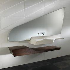 Modern sink, angular delight, Libeskind/Zaha Hadid inspried.