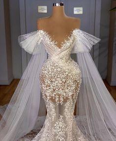 Wedding Dress Bustle, Fancy Wedding Dresses, Sheer Wedding Dress, Glam Dresses, Bridal Dresses, Wedding Gowns, Stunning Dresses, Elegant Dresses, Pretty Dresses