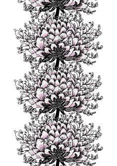 Memento Elegance black/white by Tanja Orsjoki - Vallila Interior Textures Patterns, Print Patterns, Ikea Fabric, Wheel Of Life, Contemporary Fabric, Pretty Art, Spring Collection, Pattern Paper, Walmart
