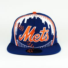 New York Mets Oversize Logo Team Colors 59fifty 7af6915dac99