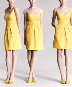Love these. It's not a surprise to anyone for me to say that yellow will be in my wedding color scheme, one day.