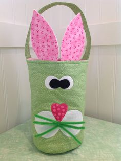 Easter Bunny Quilted Basket by TheBattyQuilter on Etsy, $15.00 - inspiration only :)