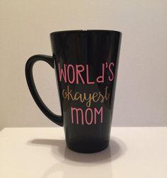 16oz coffee mug // tall coffee mug // latte by FarmhouseChicHanna