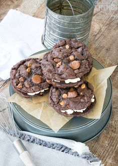 Chocolate Peanut Butter Overload Sandwich Cookies, soft chocolate cookies with…