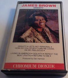 JAMES BROWN original tape cassette GRAVITY 1986 CBS Records