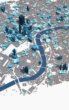 London's Skyline 3-D Map
