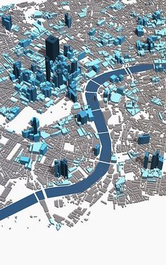 Visualizing London's Skyline With A 3-D Map Of Tweets | Co.Exist | ideas + impact... This gives the feel that you are looking at map with out the detail and just block shapes