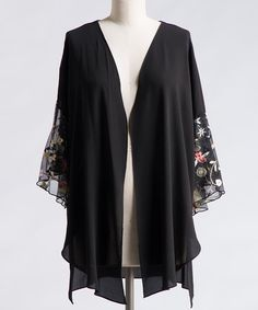 Look what I found on #zulily! Rose Embroidered Open Cardigan - Plus #zulilyfinds