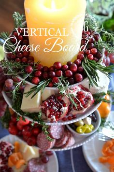 VERTICAL CHEESE BOARD-a beautiful and delicous way to present this appetizer-stonegableblog.com