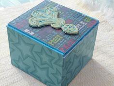 Up Cycled Storage Box, Decorative Box, Decorative Gift Box, Recycled Cigar Box, Trinket Box, Jewelry Box, Keepsake Box by KimsCountryCorner on Etsy