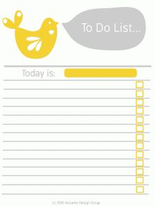 10 free printable to do lists all very cute.