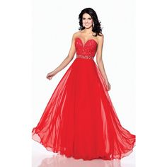 Mon Cheri 116507 Prom Sequin Dress Long Strapless Sleeveless ($398) ❤ liked on Polyvore featuring dresses, blue violet, formal dresses, lace prom dresses, red sequin gown, prom gowns, long red gown and long evening dresses