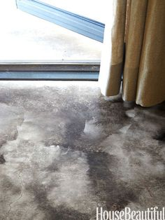 The concrete floors were acid-stained to create a cloudy effect.