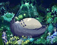 Totoro-pixel animated by Kirimimi