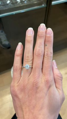 Beautiful solitaire diamond engagement ring set with a center oval crushed ice moissanite. Oval Solitaire Engagement Ring, Celebrity Engagement Rings, Dream Engagement Rings, Princess Cut Engagement Rings, Solitaire Diamond, Simple Engagement Rings Oval, Ring Verlobung, Proposal, White Gold