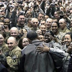 Commander-in-Chief lifts morale of the troops in Afghanistan.