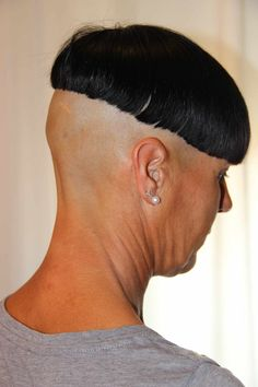 A proper bowlcut should be shaved up really high in the back…..