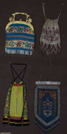 4 Beaded Bags, 1920s, Augusta Auctions, MAY 8th & 9th, 2012, Lot 160