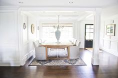 WHITE + GOLD: MY HOME featuring Small Sussex Framed Sconces in the dining room: CHD1183