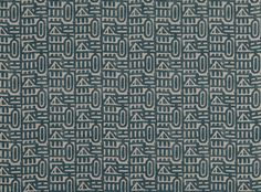 Keystone Ottanio | Woodblock | Printed Linen | Mark Alexander | Soft Natural Fabrics, Wallcoverings