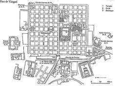 ***Planta de la ciudad militar de Timgad, Argelia.