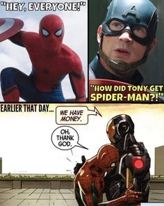 Why did Tony get Spiderman?