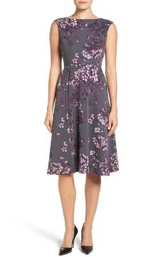 Emerson Rose Floral Print Fit & Flare Dress
